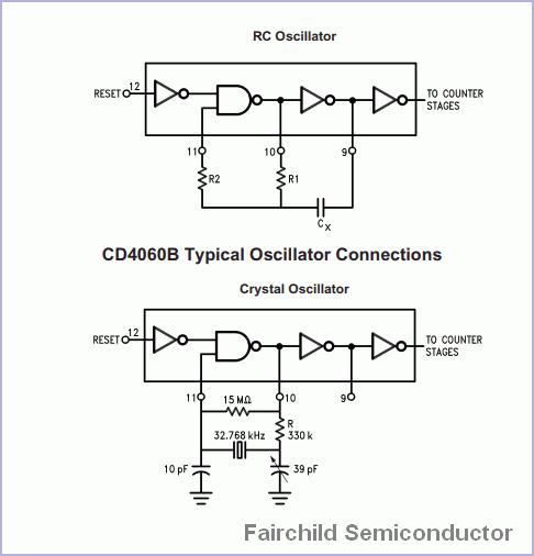 CD4060 Binary Counter Divider Oscillator