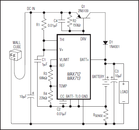 Fast-Charge Controllers - MAX712 and MAX713