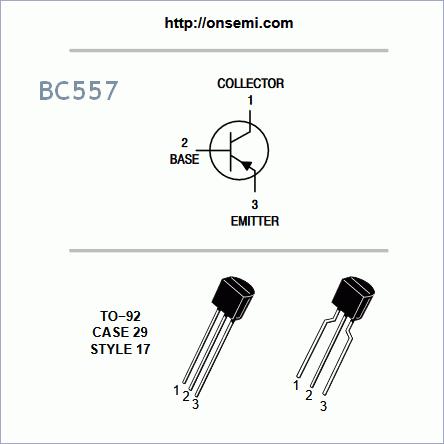 BC557 PNP Transistor General Purpose