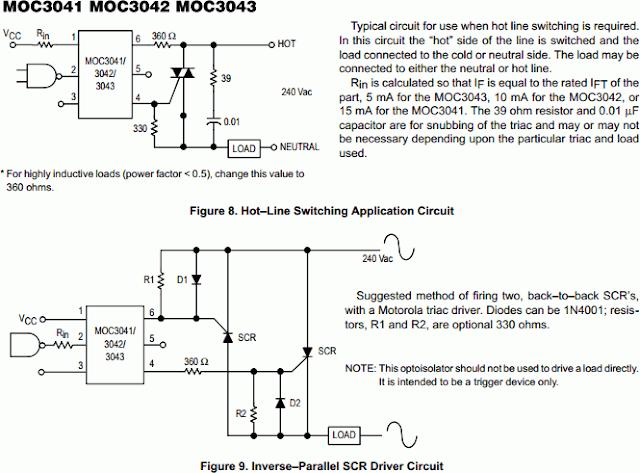 Zero-Crossing Triac-Driver Optocoupler MOC3041