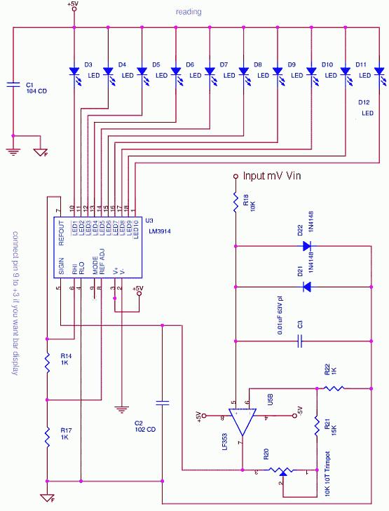 LM3914 - Dot Bar Display Driver