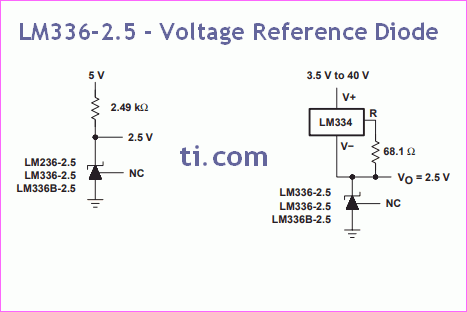 LM336-2.5 - Voltage Reference Diode